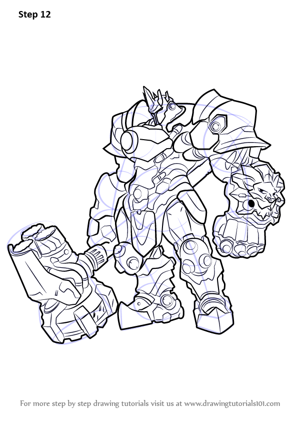 Learn How To Draw Reinhardt From Overwatch Overwatch