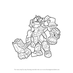 How to Draw Reinhardt from Overwatch