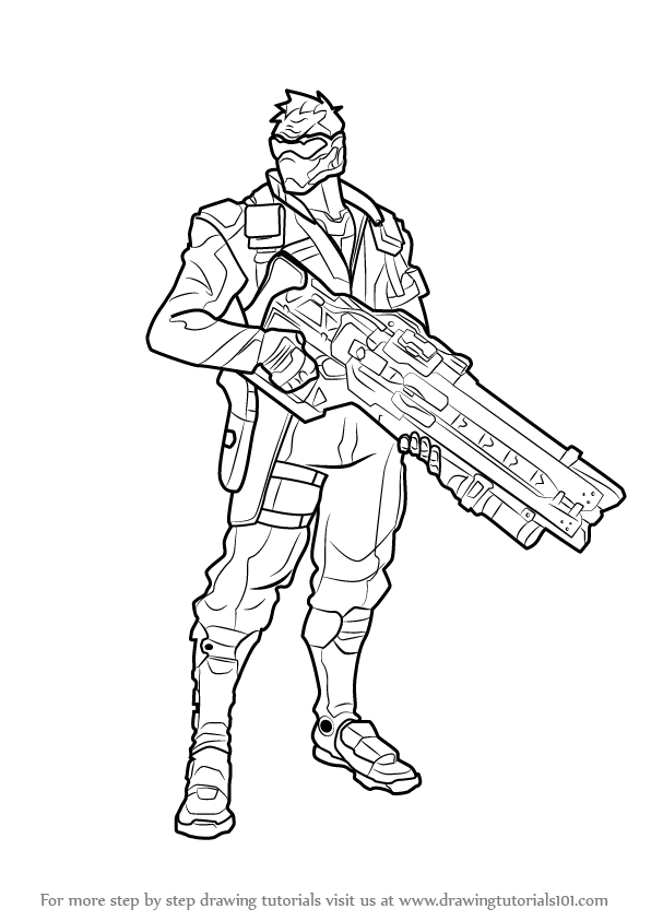 Learn how to draw soldier 76 from overwatch overwatch for Overwatch coloring pages