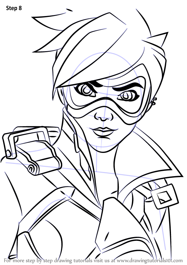 learn how to draw tracer face from overwatch  overwatch