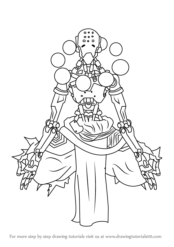 How to draw zenyatta from overwatch step 0 png