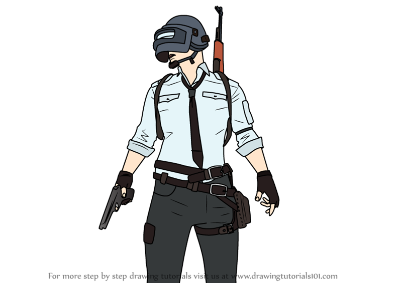 Learn How To Draw Pubg Player Pubg Step By Step Drawing