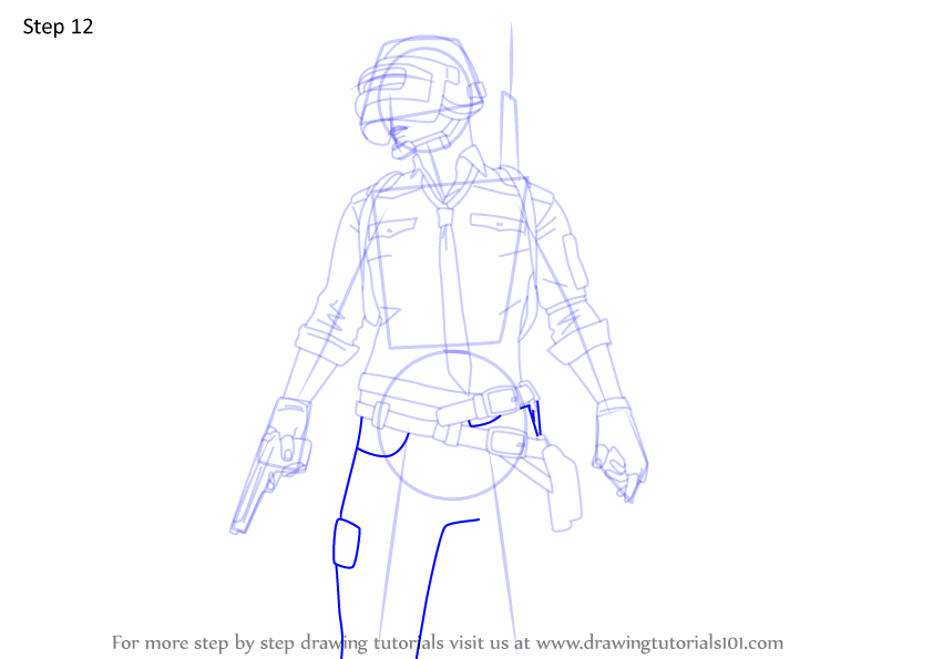 Learn How to Draw PUBG Player (PUBG) Step by Step ...