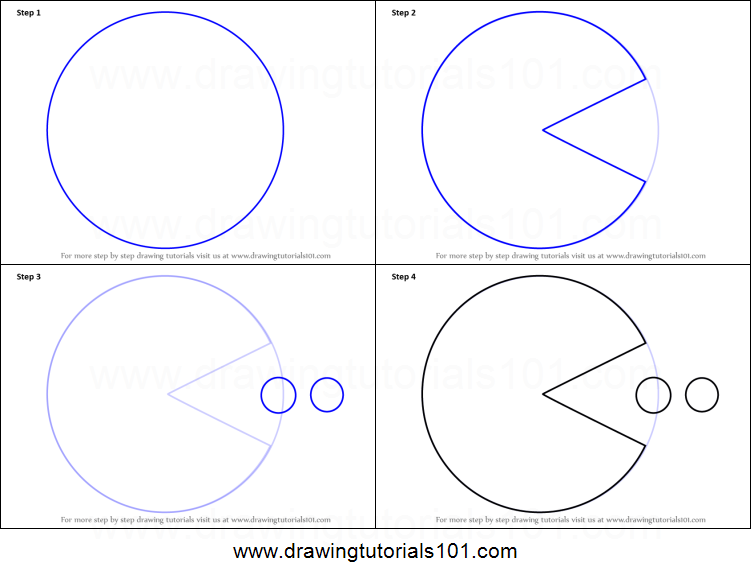 image relating to Pac Man Printable named How in direction of Attract Pac Gentleman printable stage through action drawing sheet