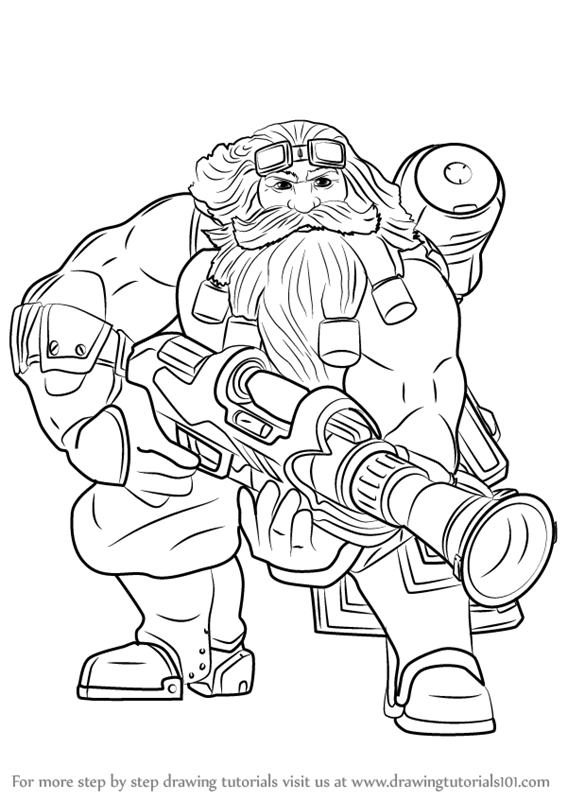 Learn How To Draw Barik From Paladins Paladins Step By