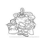 How to Draw Bomb King from Paladins