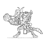 How to Draw Drogoz from Paladins