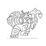 How to Draw Makoa from Paladins