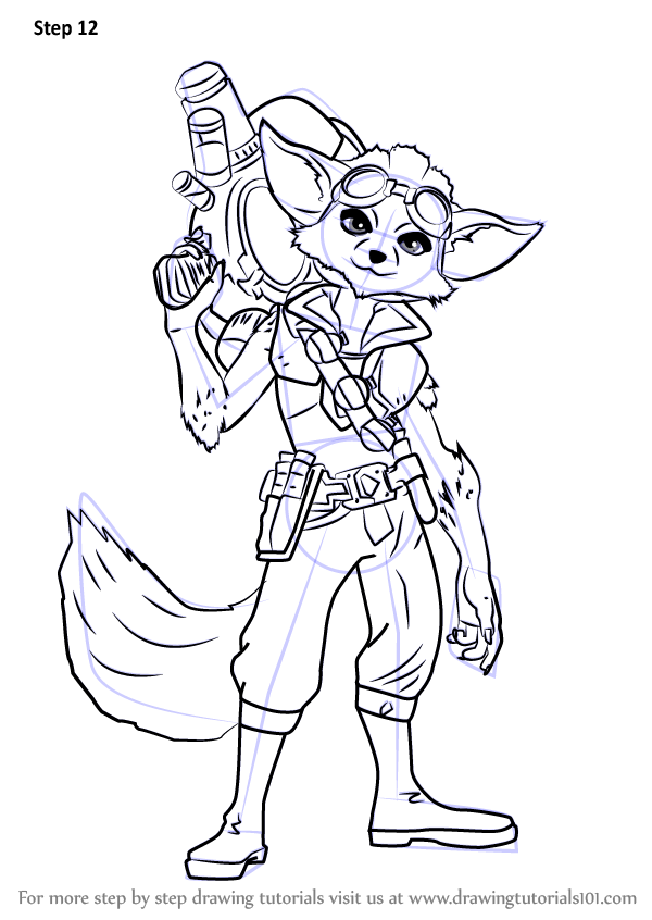 Learn How To Draw Pip From Paladins Paladins Step By