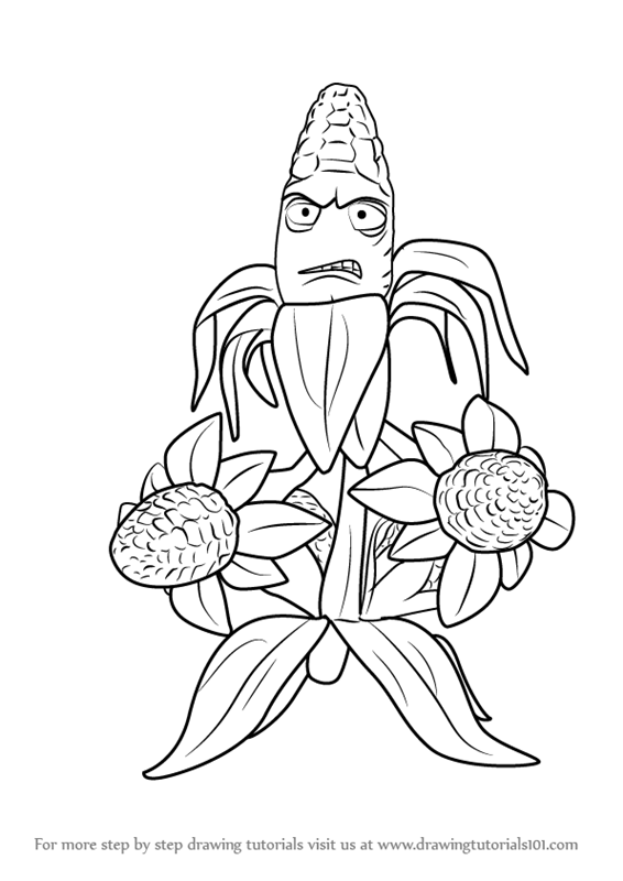 plants vs zombies garden warfare 2 coloring pages Learn How to Draw Kernel Corn from Plants vs. Zombies   Garden  plants vs zombies garden warfare 2 coloring pages