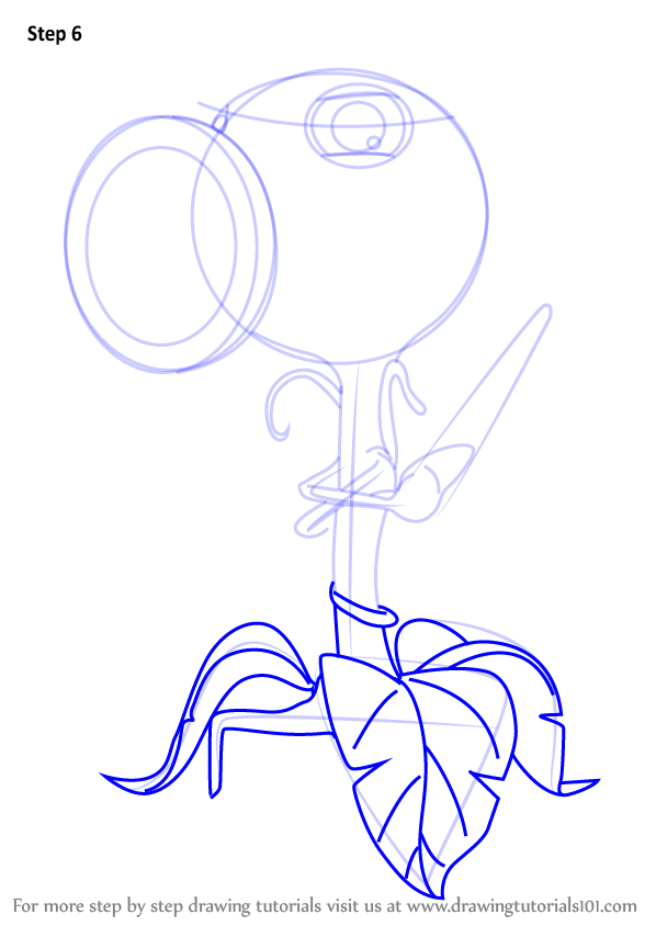 Learn How To Draw Threepeater From Plants vs. Zombies