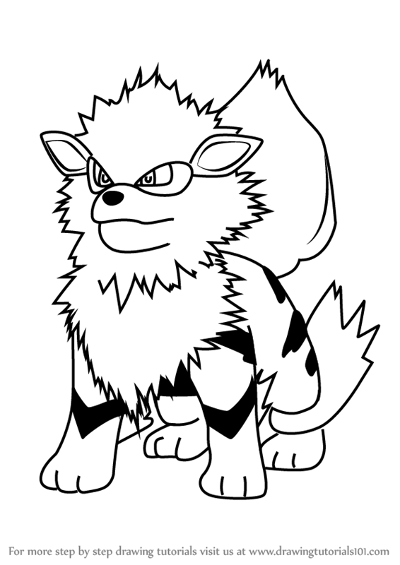 Learn How to Draw Arcanine from Pokemon GO (Plants vs ... Easy Drawings Of Flowers In Pencil For Kids