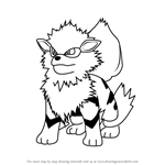 How to Draw Arcanine from Pokemon GO