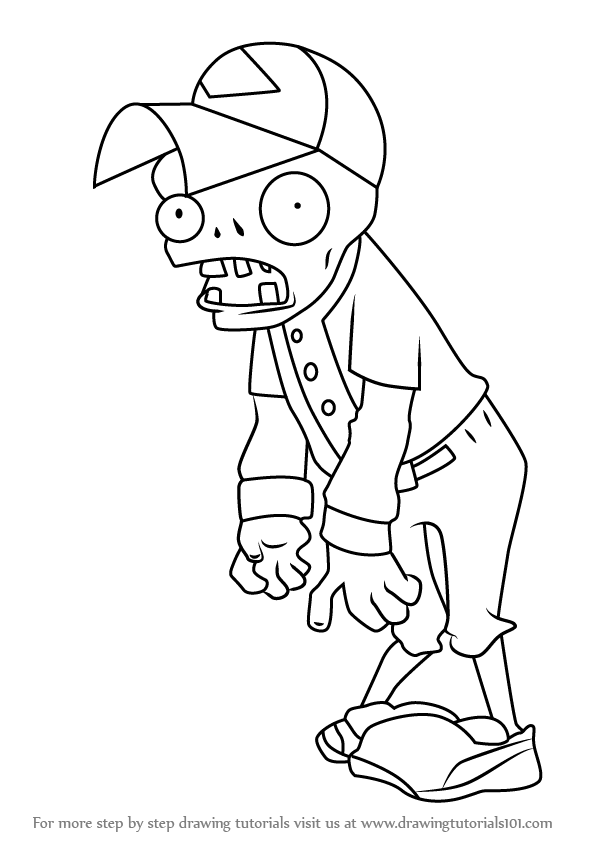learn how to draw baseball zombie from plants vs zombies
