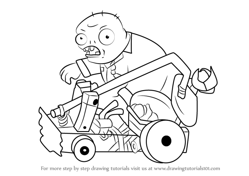 learn how to draw catapult zombie from plants vs zombies