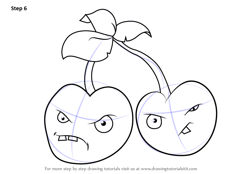 Learn How To Draw Cherry Bomb From Plants Vs Zombies