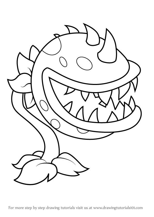 learn how to draw chomper from plants vs  zombies  plants