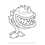 How to Draw Chomper from Plants vs. Zombies