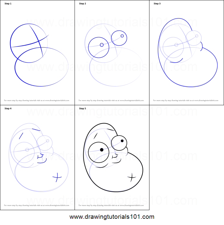 How to draw coffee bean from plants vs zombies printable for How to draw a coffee bean