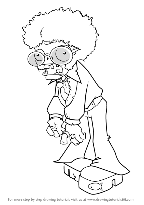 learn how to draw dancing zombie from plants vs zombies