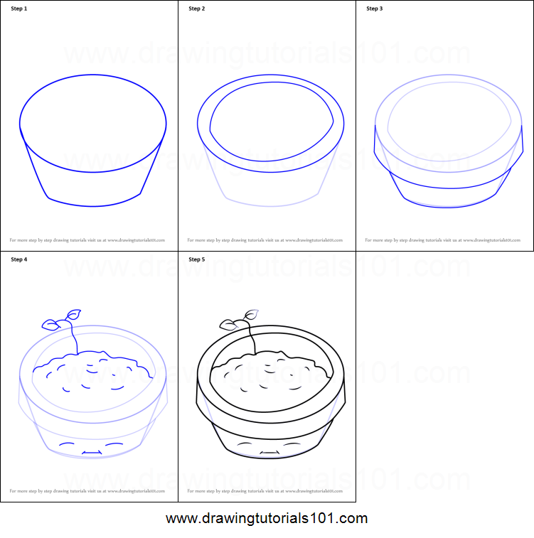 How to Draw Flower Pot from Plants vs. Zombies printable ...