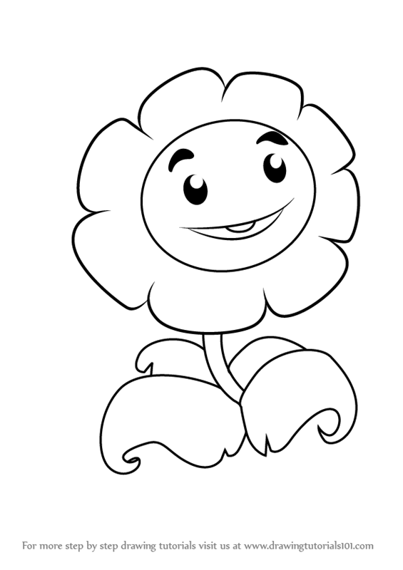 Learn How To Draw Giant Marigold From Plants Vs Zombies