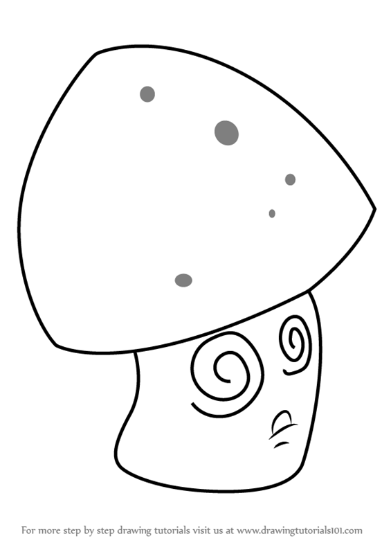 Learn How To Draw Hypno Shroom From Plants Vs Zombies