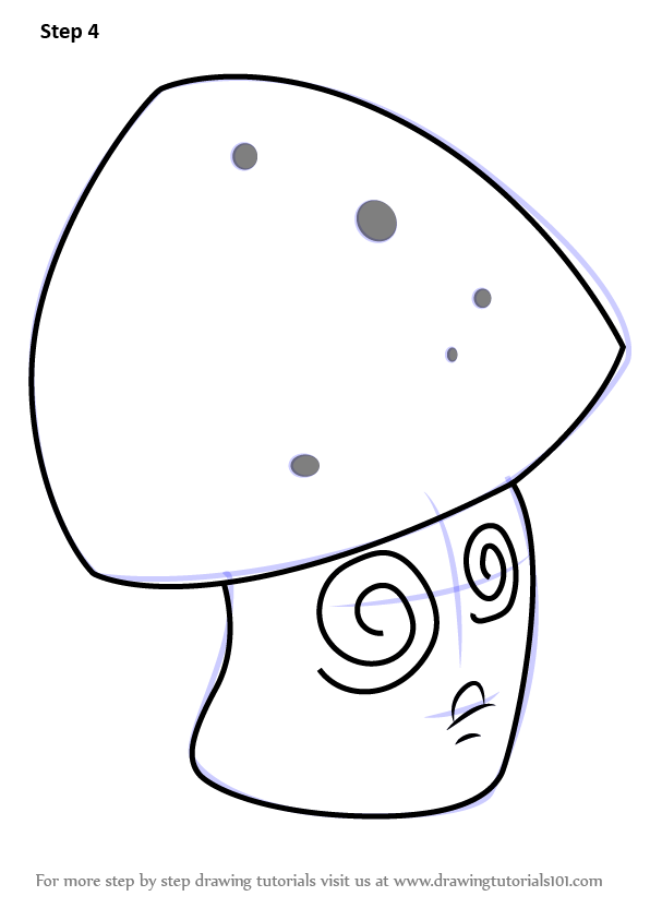 Learn How to Draw Hypno-shroom from Plants vs. Zombies