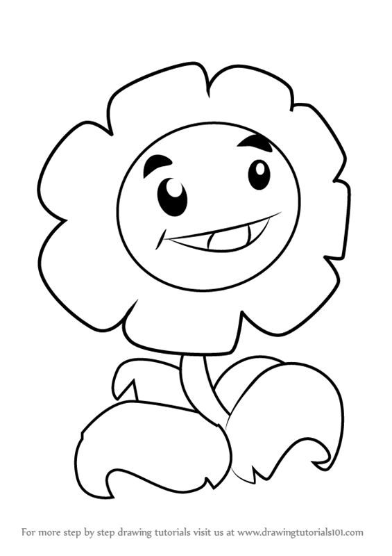 Learn How To Draw Marigold From Plants Vs Zombies Plants