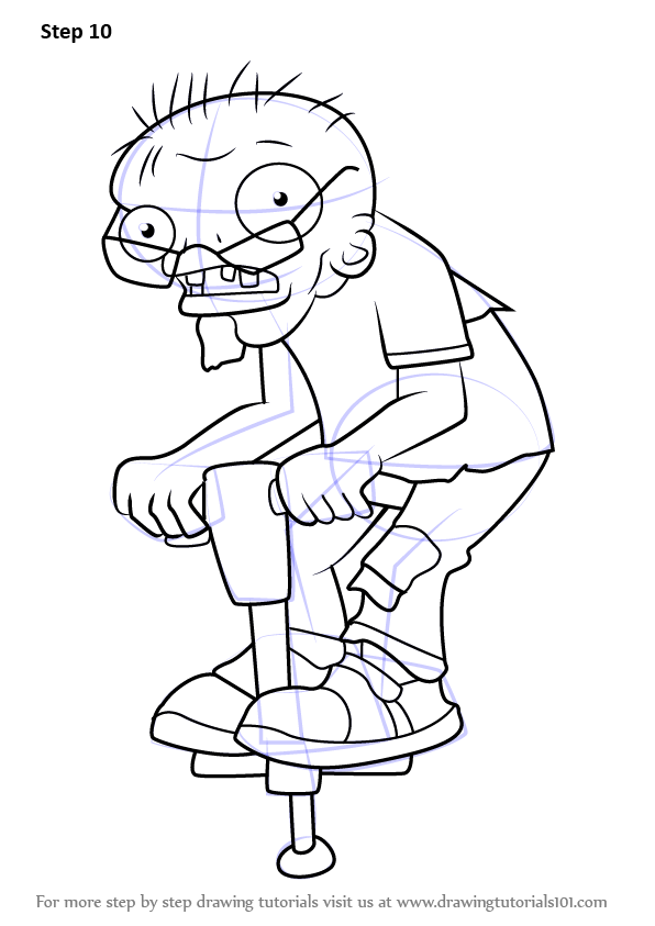 learn how to draw pogo zombie from plants vs zombies