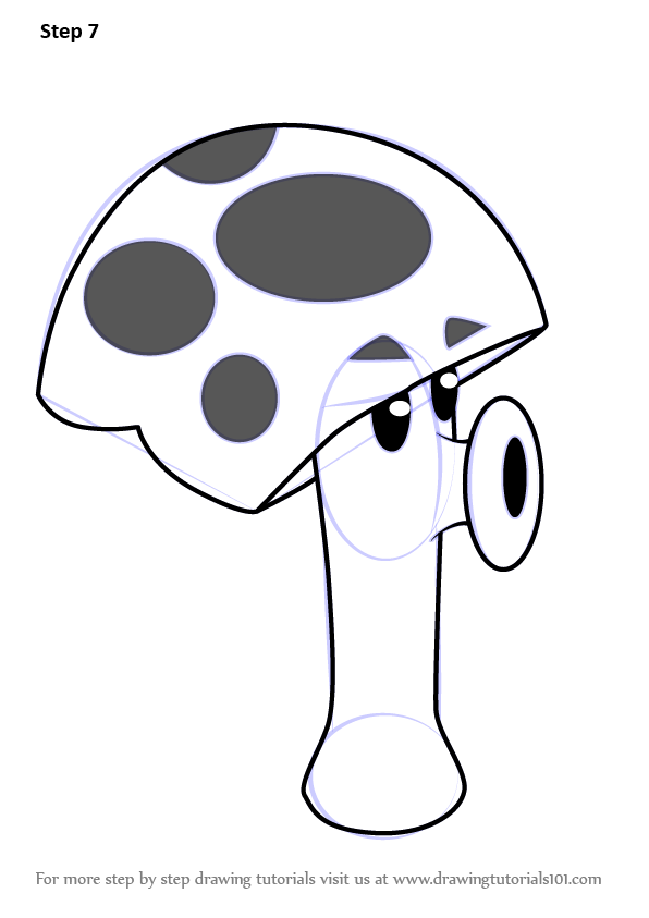 learn how to draw scaredyshroom from plants vs zombies