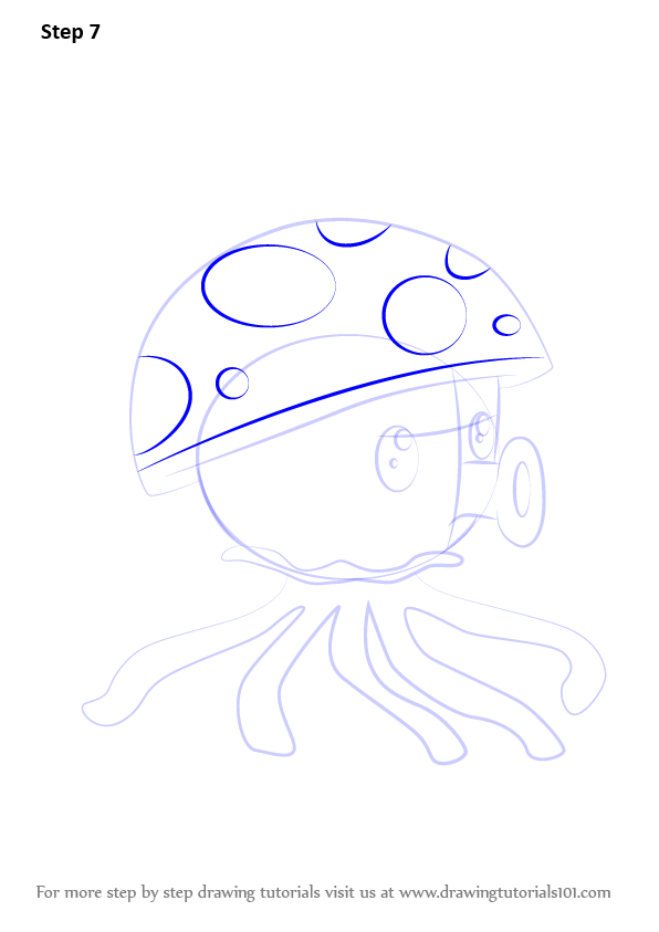Learn How to Draw Sea-shroom from Plants vs. Zombies ...