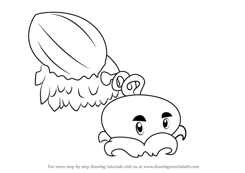 learn how to draw winter melon from plants vs zombies