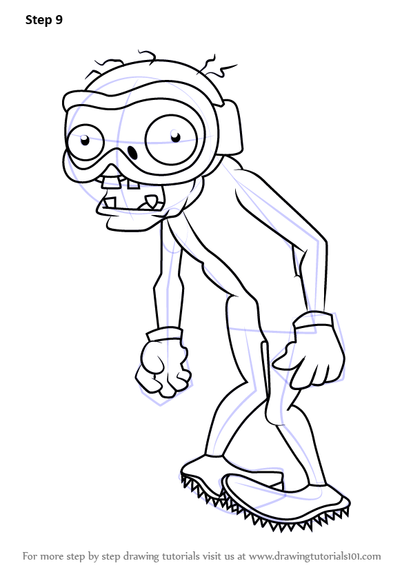 Learn How To Draw Zombie Bobsled Team From Plants Vs
