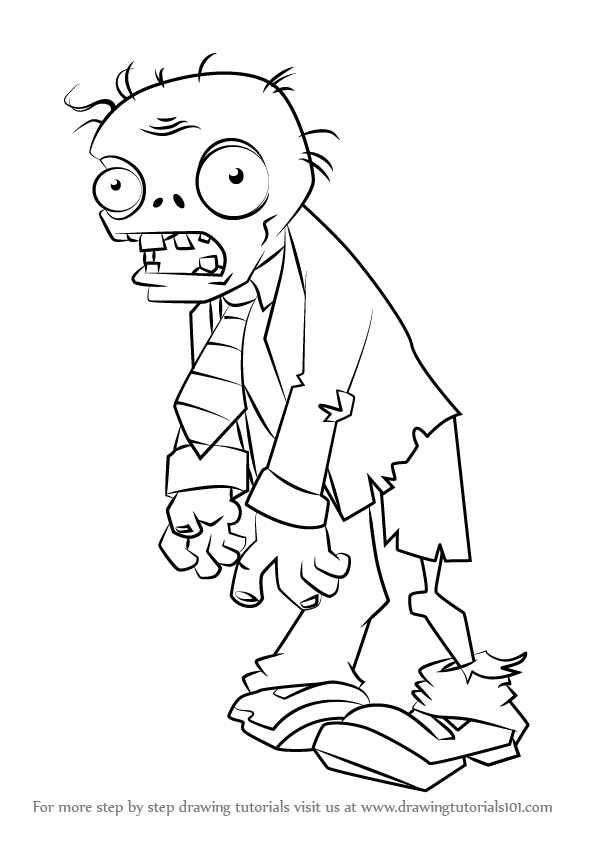 learn how to draw zombie from plants vs zombies plants
