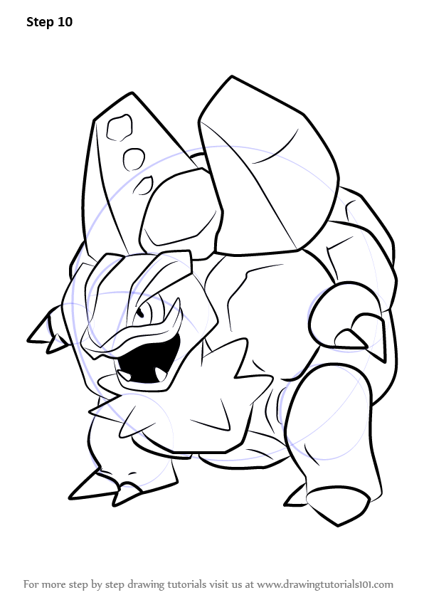 Learn How To Draw Alola Golem From Pokemon Sun And Moon