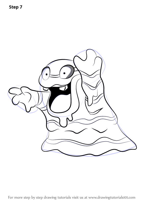 Learn How To Draw Alola Grimer From Pokemon Sun And Moon