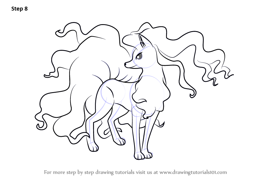 Learn How To Draw Alola Ninetales From Pokemon Sun And