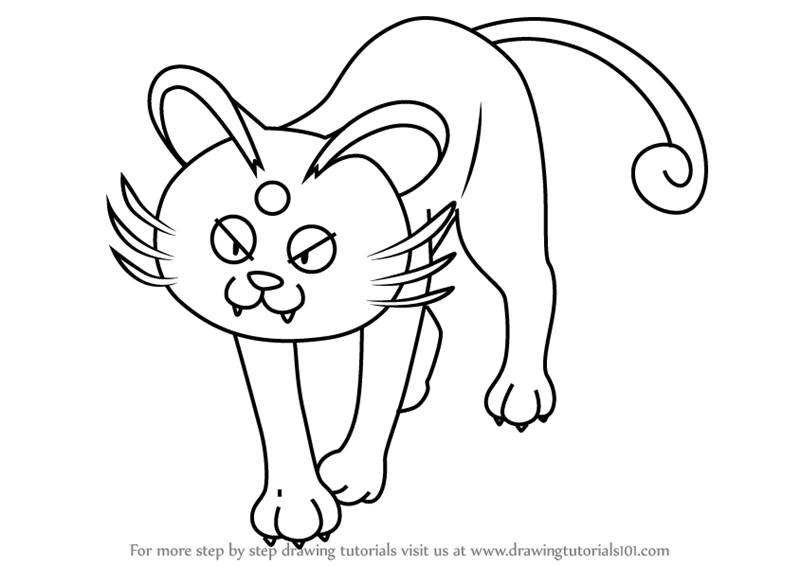 Learn How to Draw Alola Persian