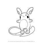 How to Draw Alola Raichu from Pokemon Sun and Moon