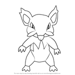 How to Draw Alola Rattata from Pokemon Sun and Moon