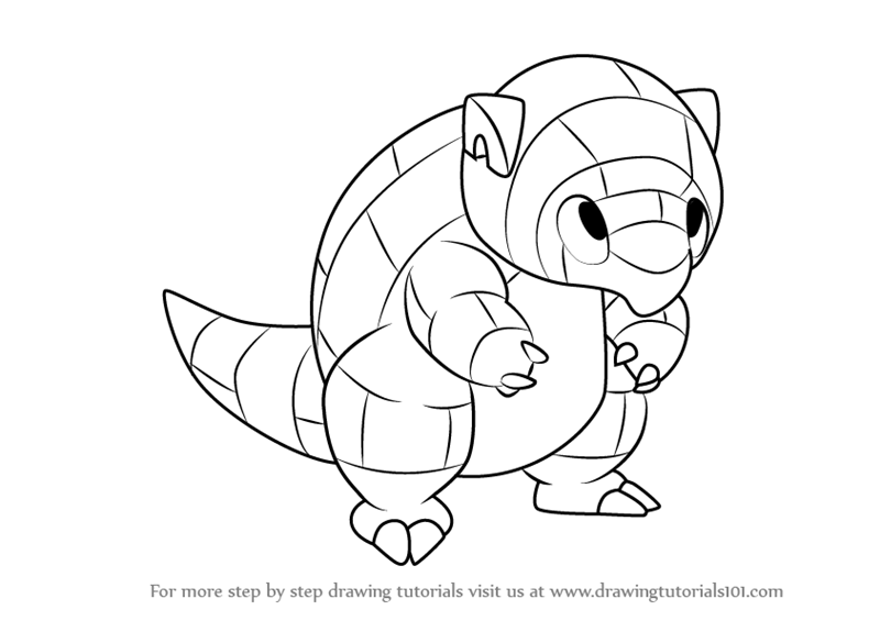 pokemon sandshrew coloring pages - photo#36