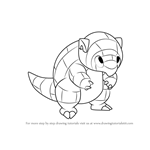How to Draw Alola Sandshrew from Pokemon Sun and Moon