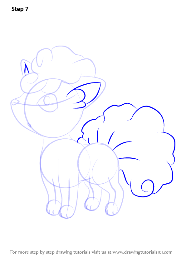 Learn How To Draw Alola Vulpix From Pokemon Sun And Moon