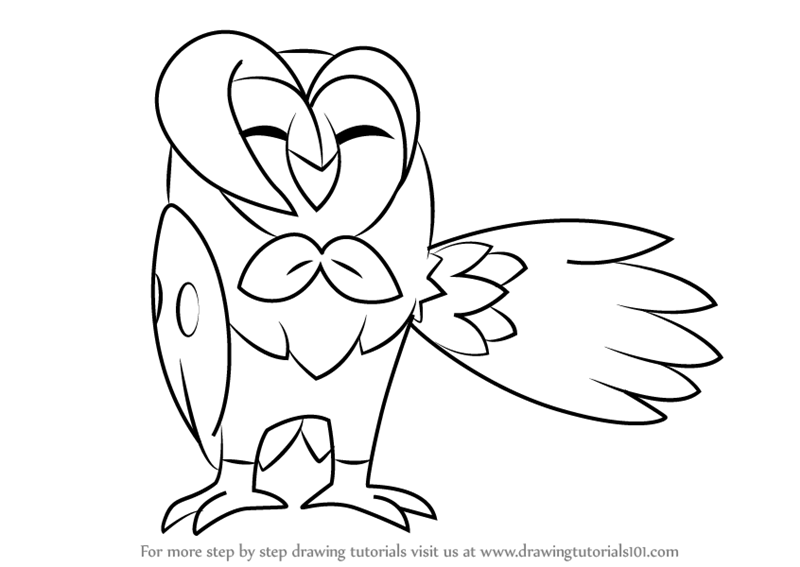 Learn How To Draw Dartrix From Pokemon Sun And Moon
