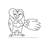 How to Draw Dartrix from Pokemon Sun and Moon