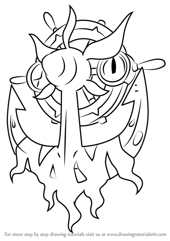 Learn How To Draw Dhelmise From Pokemon Sun And Moon