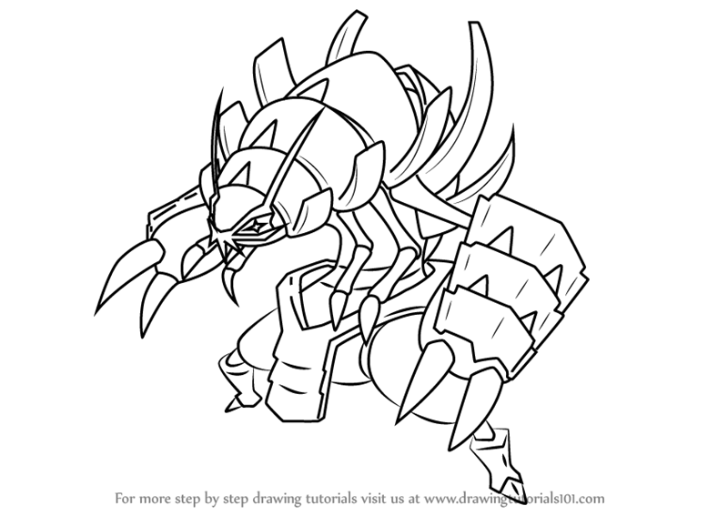how to draw golisopod from pokemon sun and moon