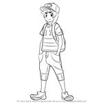 How to Draw Hero from Pokemon Sun and Moon