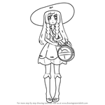 How to Draw Lillie from Pokemon Sun and Moon
